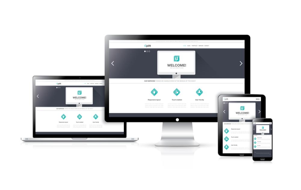 responsive web design mockup nello studio di lugano